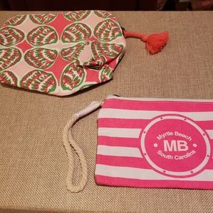 Set of 2 Beachy Cosmetic Bags